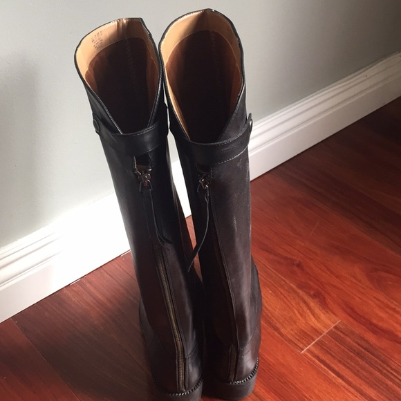 6753ce3c3ee Franco Sarto Shoes - Tall black leather boots. Wide calf.